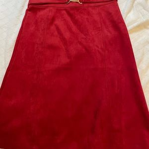 Red size Large skirt